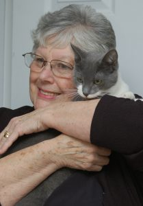 Doreen Osmond hugging her cat Donny